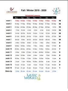 Passover 2020 Calendar.Calendar Crestwood Music Education Center