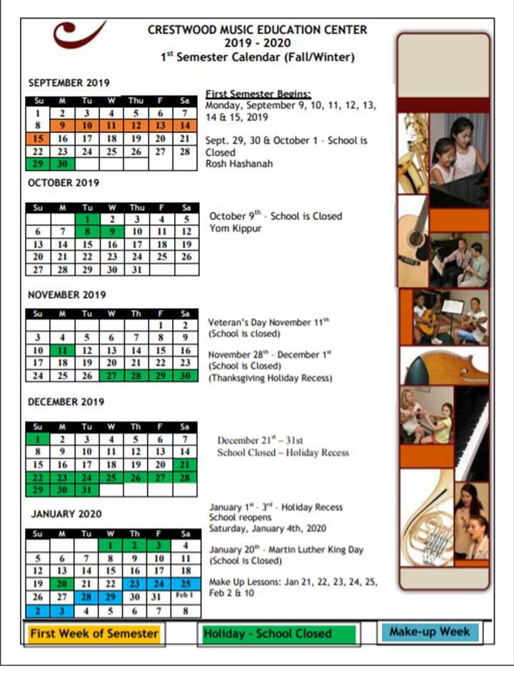 Fall Winter Calendar